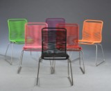 Verner Panton. Six chairs, model VP ONE (6)