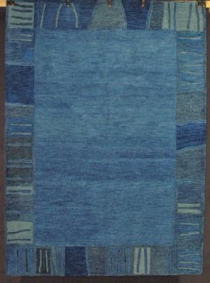 Slutpris For Moderner Teppich Wolle In Blau