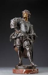 Auguste Joseph Carrier 1800-1875. Figur af patineret bronze