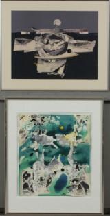 Bernard Mandeville, Keld Jensen. Kompositioner. Litografi og akvarel. (2)