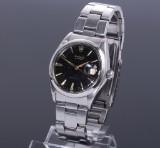 Rolex 'Oysterdate Precision'. Vintage men's watch, steel with black dial, c. 1963