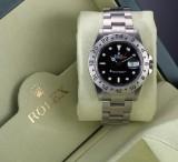 Rolex 'Explorer II'. Men's watch, steel, with black dial with date, c. 2003