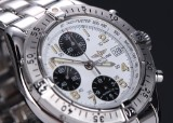 Breitling 'Colt Chronograph' men's watch, steel, white dial, 1990's