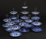 Kgl. Samling opsatser af porcelæn lavet af platter (10)