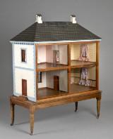 Stort dukkehus i barokstil, 1800-tallet.