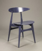 Hans J. Wegner for Carl Hansen & Søn. Stol model CH-33T, Purple Blue