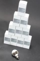 10 stk ALT Miniglobe LED-pære. 7 watt, E27 sokkel (10)