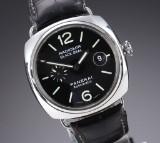 Panerai 'Radiomir Black Seal'. Men's watch, steel with black dial, 2000s
