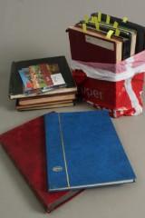 Samling frimærker, indstiksbøger.(3)