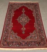 Handknuten persisk matta, ull på bomullsvarp, 226 x 134 cm