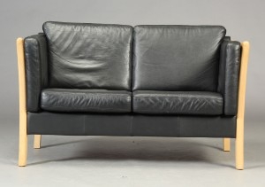 Pleasant Dansk Mobelproducent 2 Prs Sofa Sort Skind Lauritz Com Onthecornerstone Fun Painted Chair Ideas Images Onthecornerstoneorg