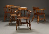 Engelske captain chairs, 1800/1900-tallet (4)