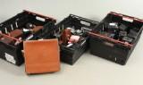 Samling ældre fotografiapparater
