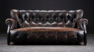 chesterfield sofa mit hoher r ckenlehne ca 1900. Black Bedroom Furniture Sets. Home Design Ideas