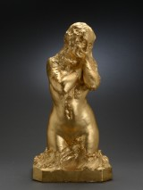 Just Andersen, guldbemalet gips, Kvinde / Venus i halvfigur