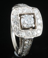 18kt diamond ring approx. 2.42ct