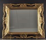Spegel med förgylld ram , nyare tillverkning.