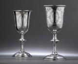 P. Hertz. Et par bryllupspokaler af sølv, 1896 (2)