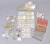 Samling danske / udenlandske mønter og sedler
