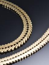 Geneve, armbånd og halskæde af guld (2)