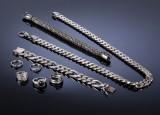 Kraftig 'Anker' halssmykke og armbånd samt diverse smykker af sterlingsølv og sølv. (8)