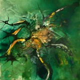 Bozena Ossowski, olie på lærred, 'Green Coral'