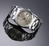 Rolex 'Date'. Herrenuhr aus Stahl mit silbrigem Zifferblatt mit Datum, ca. 1990