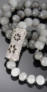 Ole Lynggaard 'Blonde' diamond clasp with quartz necklace
