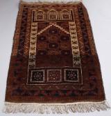Pakistansk tæppe, 130 x 81 cm.