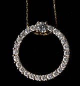 18 kt. gold necklace with brilliant-cut diamonds, 1.40 ct.