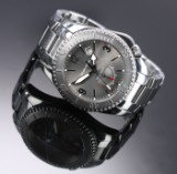 Girard Perregaux. 'Sea Hawk II', men's watch in steel with silver dial, 2000s