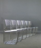 Verner Panton, a set of chairs, model 101 from the Pantonova system series 100 for Fritz Hansen (6)