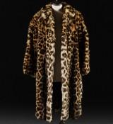 Vintage leopard (panthera pardus) coat, size 36/38