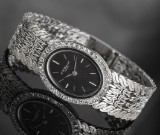 Chopard ladies' wristwatch in white gold featuring diamonds
