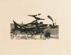 graphiken horst janssen moby dick lithographie 1958 de hamburg gro e. Black Bedroom Furniture Sets. Home Design Ideas