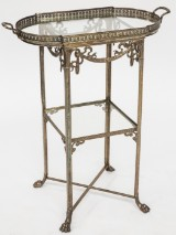 Side table featuring tray, WMF, silver-plated
