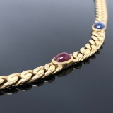 Quinn necklace with sapphires, rubies and emerald