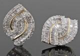 Diamond earrings, 14kt. gold, approx. 1.00ct  (2)