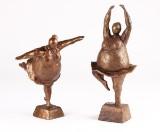 Skulpturer, bronze (2)