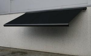 sort markise 6 meter lukket aluminiumskasse motor samt. Black Bedroom Furniture Sets. Home Design Ideas