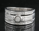Diamond ring in 14kt approx. 0.39ct