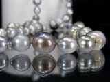 Baroque Tahitian pearl necklace, approx. 86 cm