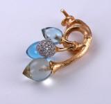 Ole Lynggaard. 'Lotus Klase' pendant, 18 kt. red gold with diamonds,