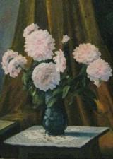 Marie Alexandre, Blumenstillleben mit Chrysanthemen, Öl auf Leinwand