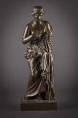 Skulptur af patineret bronze, 1800-tallet