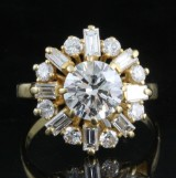 18kt. diamond ring approx. 2.50ct.