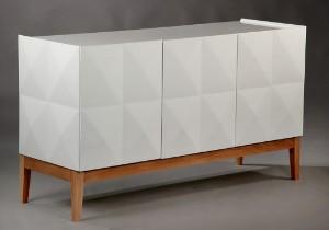 Seriøst Slutpris för Moderne skænk af hvid højglans MJ39
