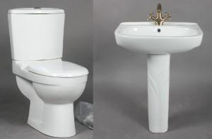 Handfat Toalett : Slutpris för set toalett och handfat coco