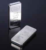Credit Suisse. Et par sølvbarrer à 1 kg, samlet 2 kg (2)