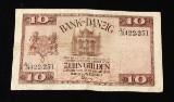 Bank von Danzig. Zehn Gulden 10.2.1924